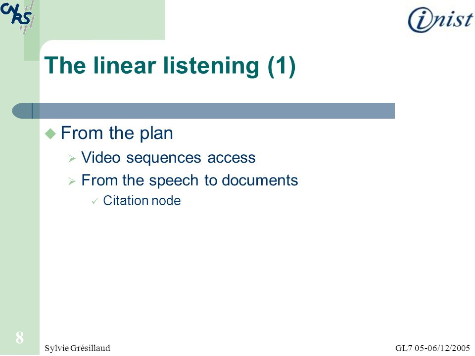 The linear listening (1)