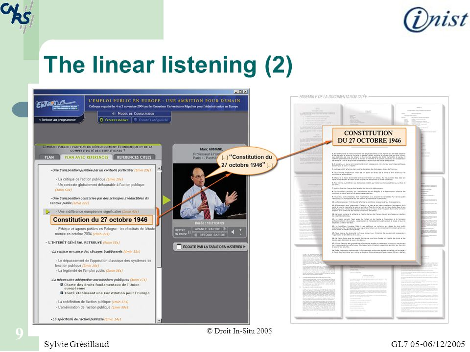 The linear listening (2)