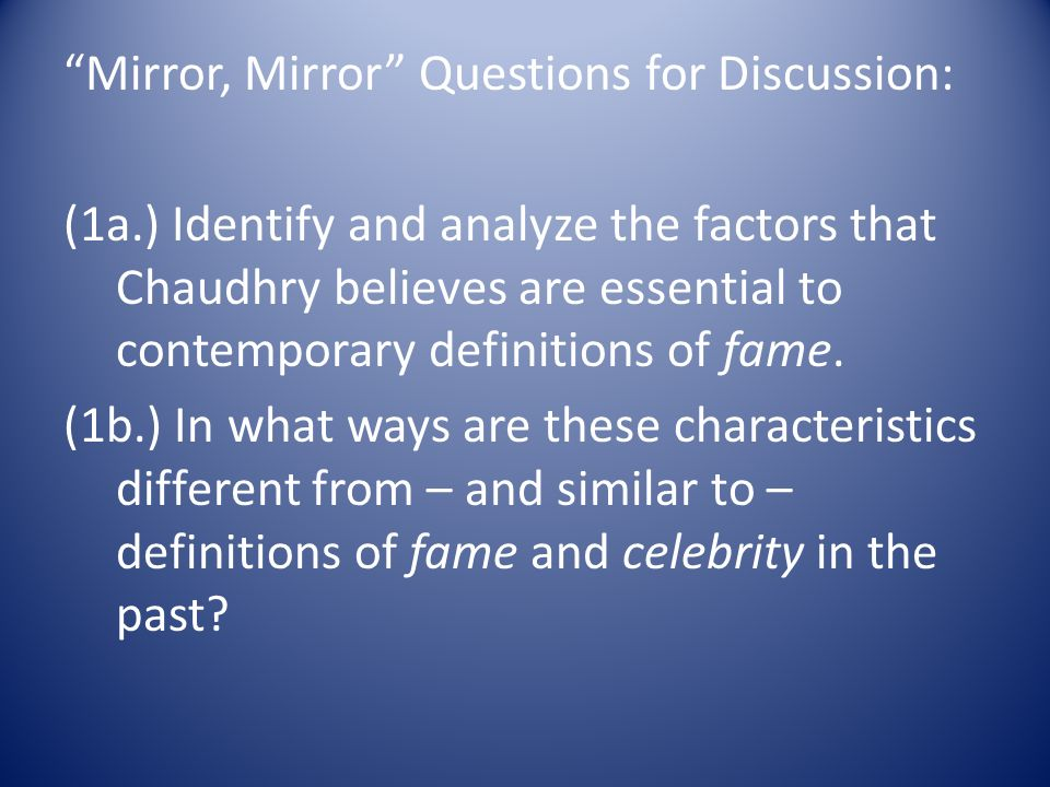 You cannot argue a fact but you can argue the conclusion for Mirror questions