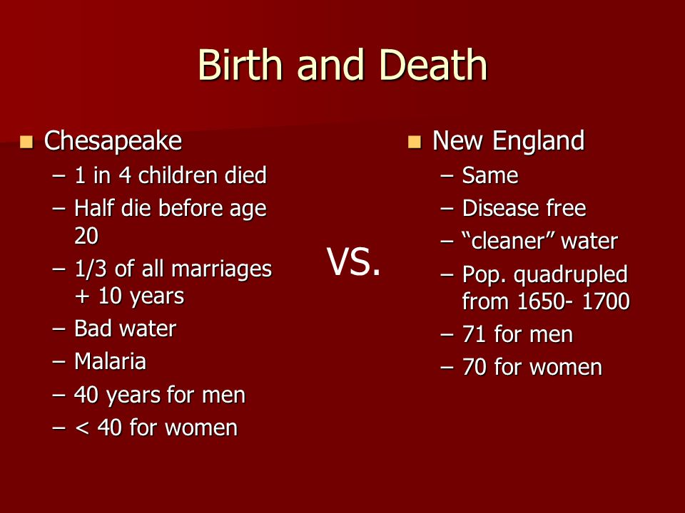 new england vs chesapeake different concepts