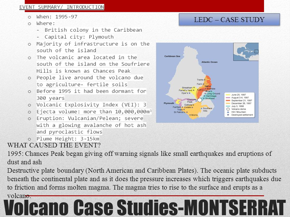 Volcanic eruption case study