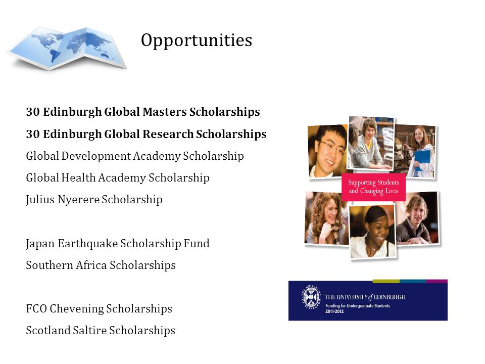 Opportunities 30 Edinburgh Global Masters Scholarships
