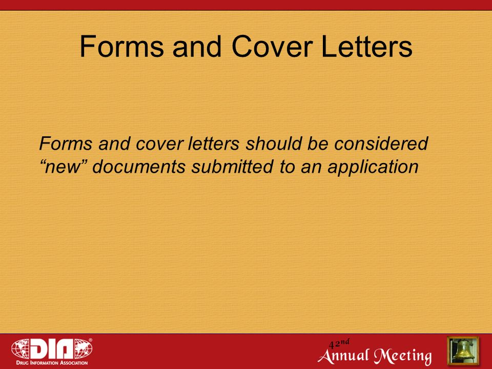 forms and cover letters - Regulatory Affairs Cover Letter