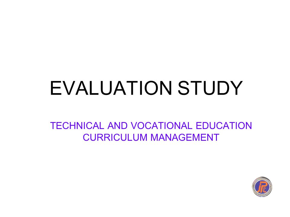 TECHNICAL AND VOCATIONAL EDUCATION CURRICULUM MANAGEMENT