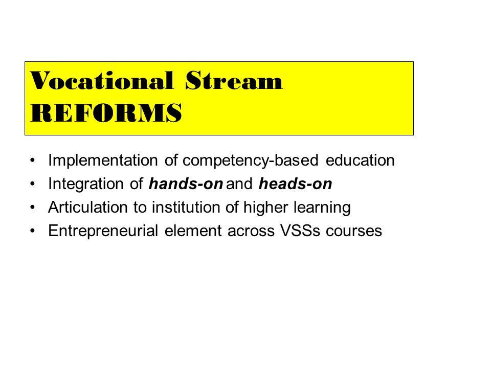 Vocational Stream REFORMS
