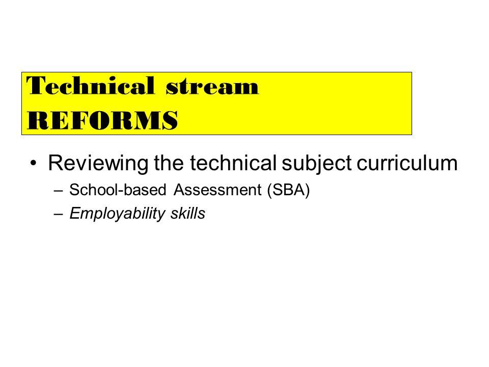 Technical stream REFORMS