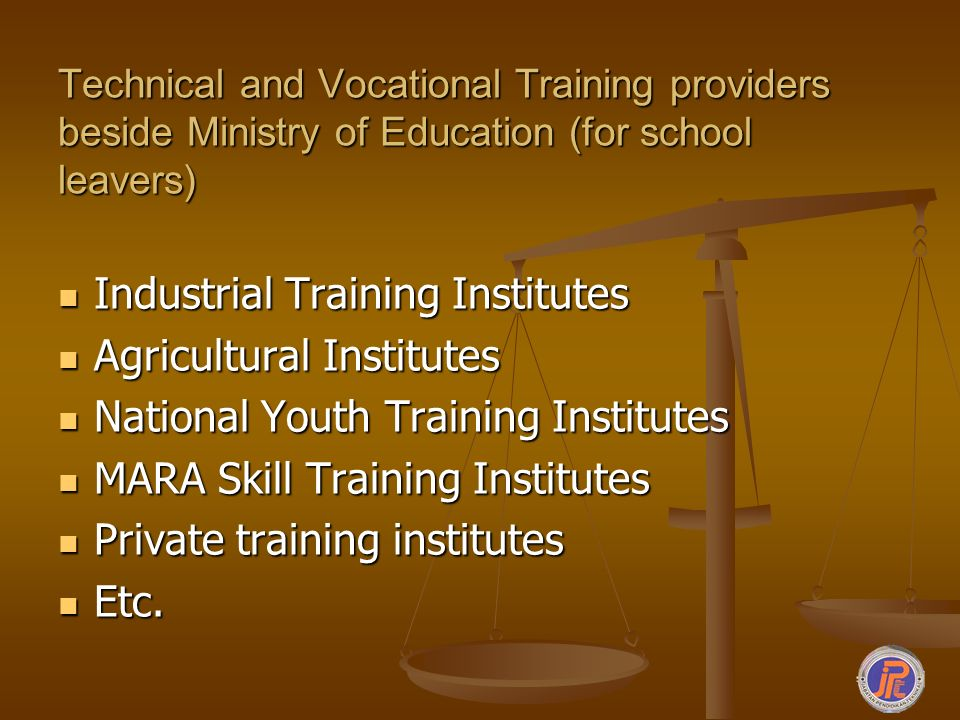 Industrial Training Institutes Agricultural Institutes