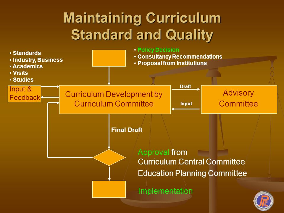 Maintaining Curriculum Standard and Quality
