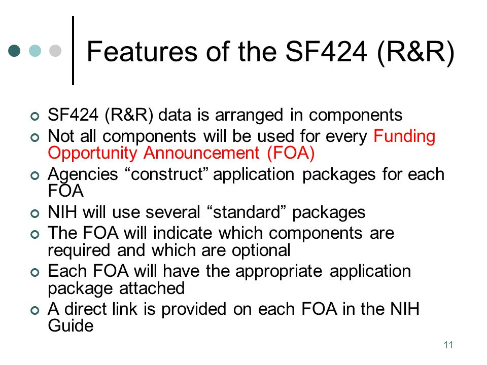 A Walk Through The SF424 (R&R) - NIH - ppt download