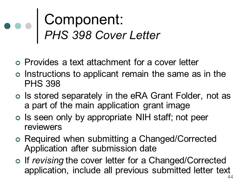 Nih Cover Letter Cover Letter Grant Application Letter Sample For