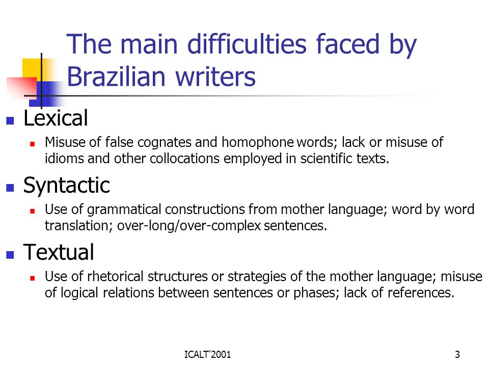 The main difficulties faced by Brazilian writers