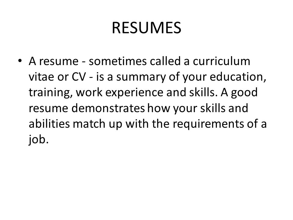 resumes and cover letters ppt download