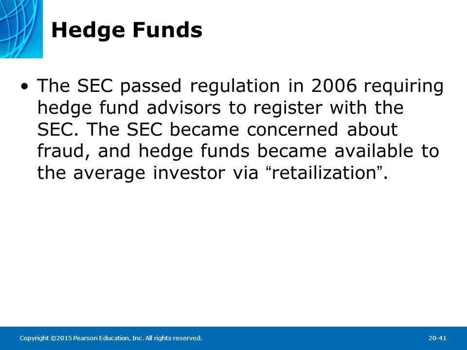 hedge funds and financial stability regulating A rand study revealed that hedge funds did not play a pivotal role in the financial crisis of 2007–2008 but that they have the potential to contribute to systemic risk in the future the research identified related risk factors, assessed whether recent regulations address them, and highlighted.