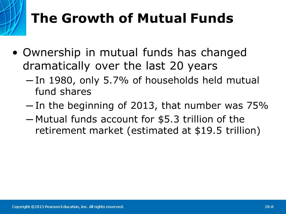 growth of mutual funds The index mutual fund: 40 years of growth, change, and challenge some 40 years ago, a new concept of investing.
