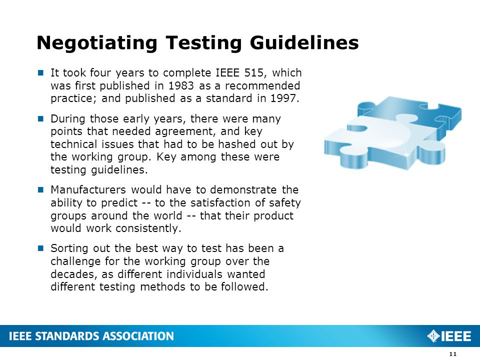 Negotiating Testing Guidelines