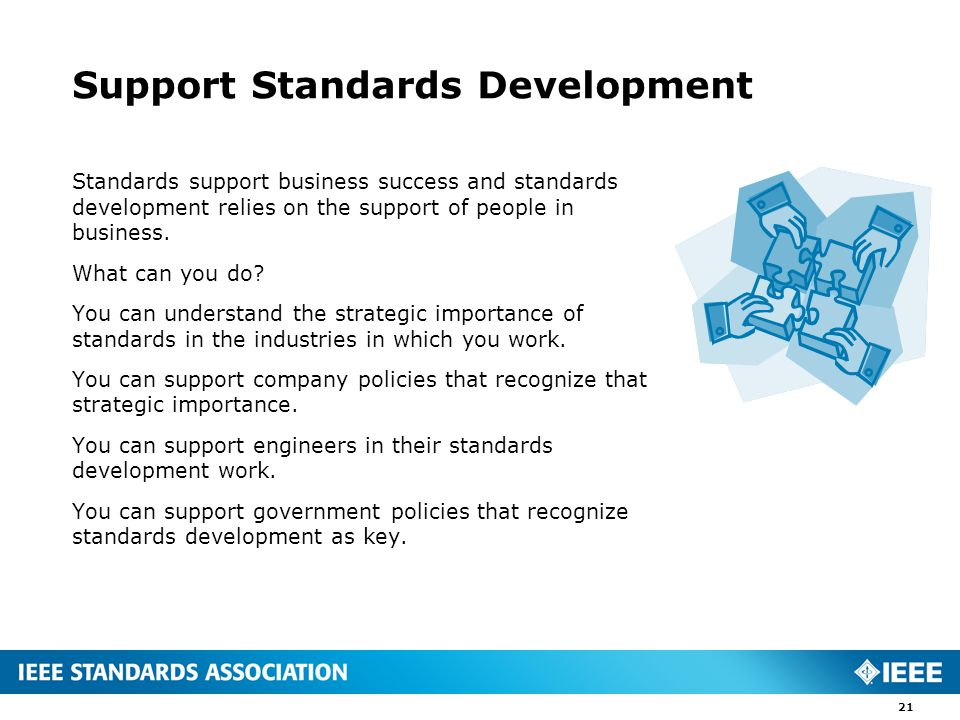 Support Standards Development