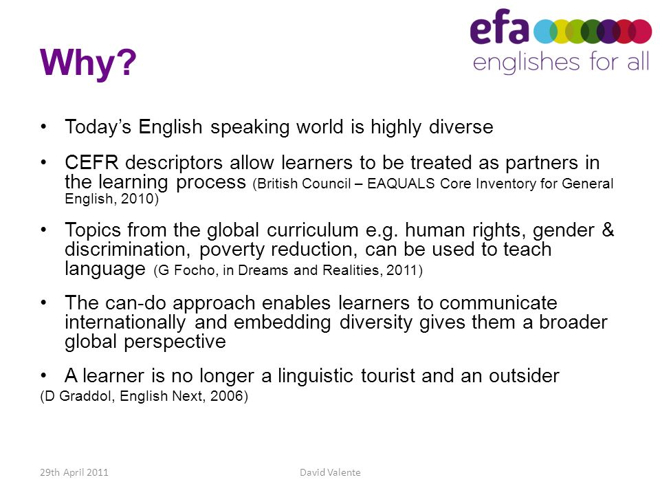 Why Today's English speaking world is highly diverse