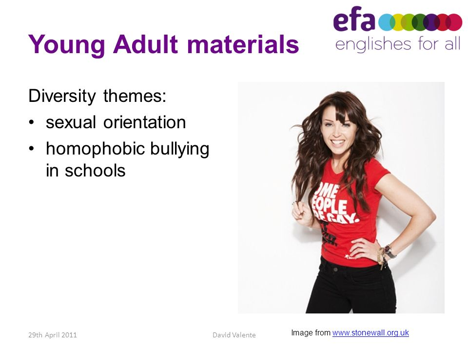 Young Adult materials Diversity themes: sexual orientation