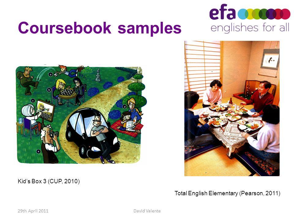 Coursebook samples Kid's Box 3 (CUP, 2010)