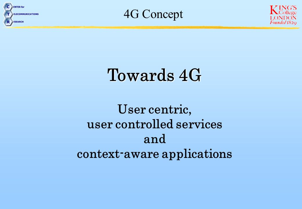 user controlled services context-aware applications