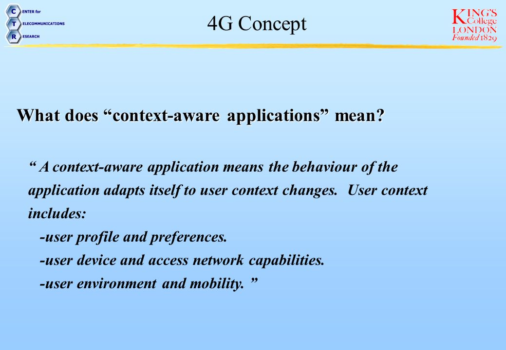 What does context-aware applications mean