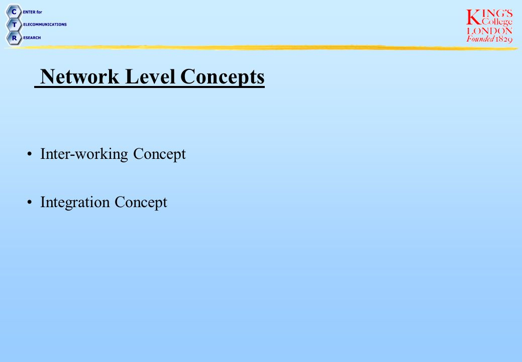 Network Level Concepts