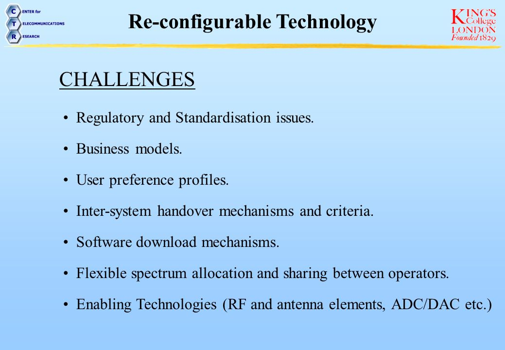 Re-configurable Technology
