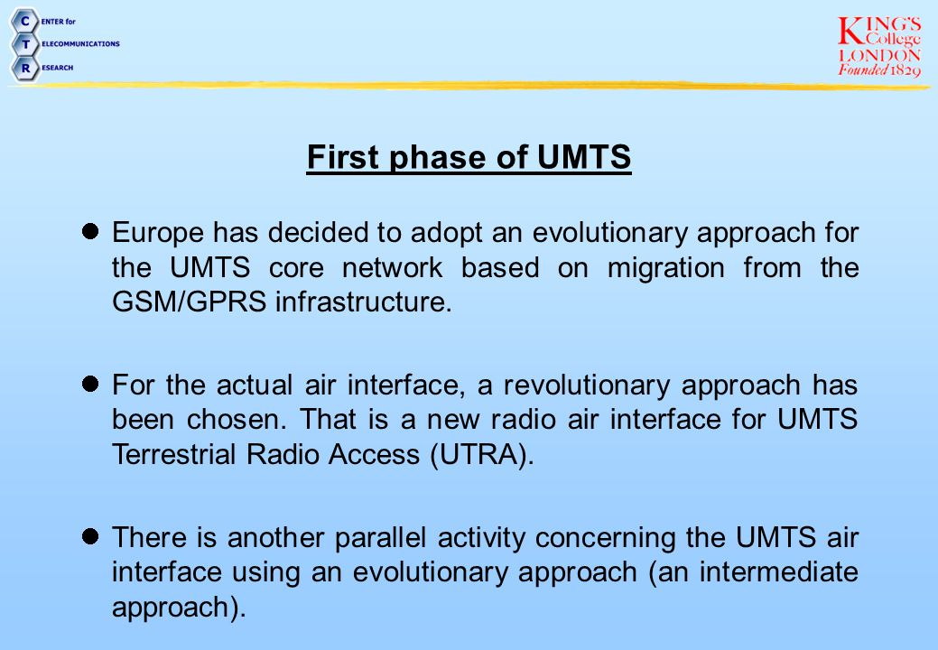 First phase of UMTS