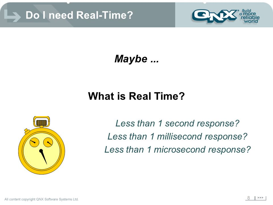 Do I need Real-Time Maybe ... What is Real Time