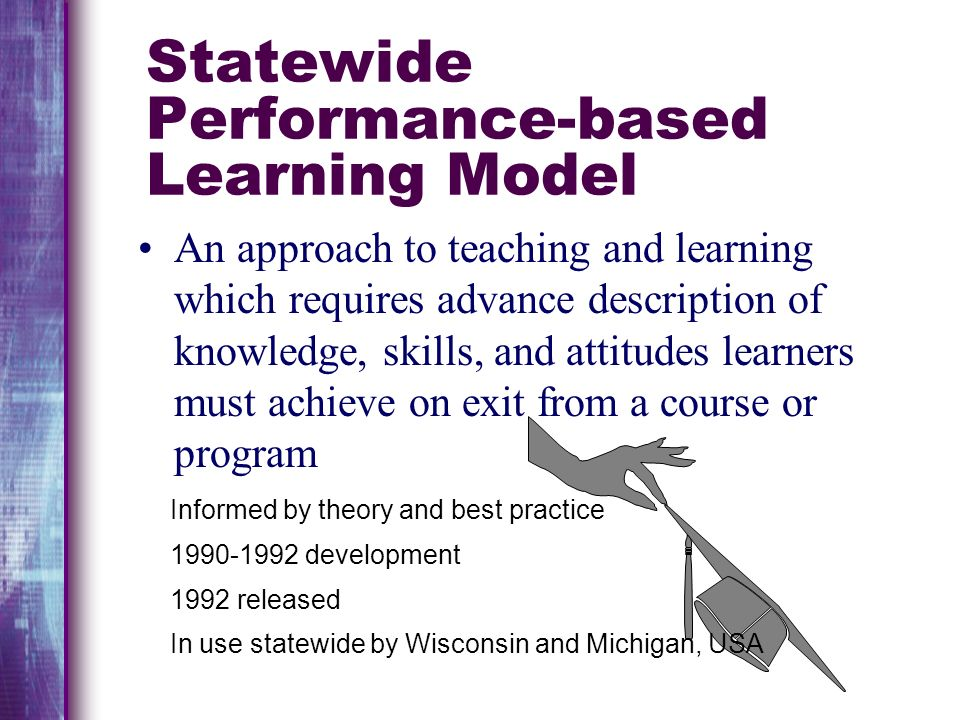 Statewide Performance-based Learning Model