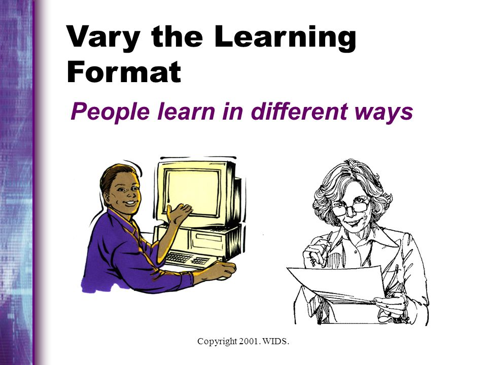 Vary the Learning Format
