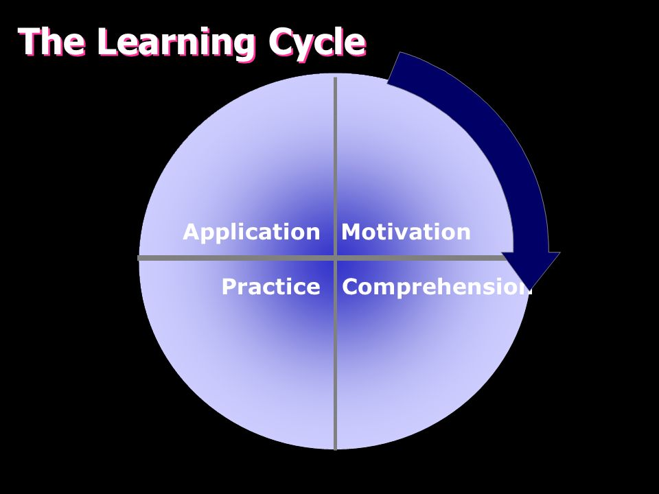 The Learning Cycle Application Motivation Practice Comprehension