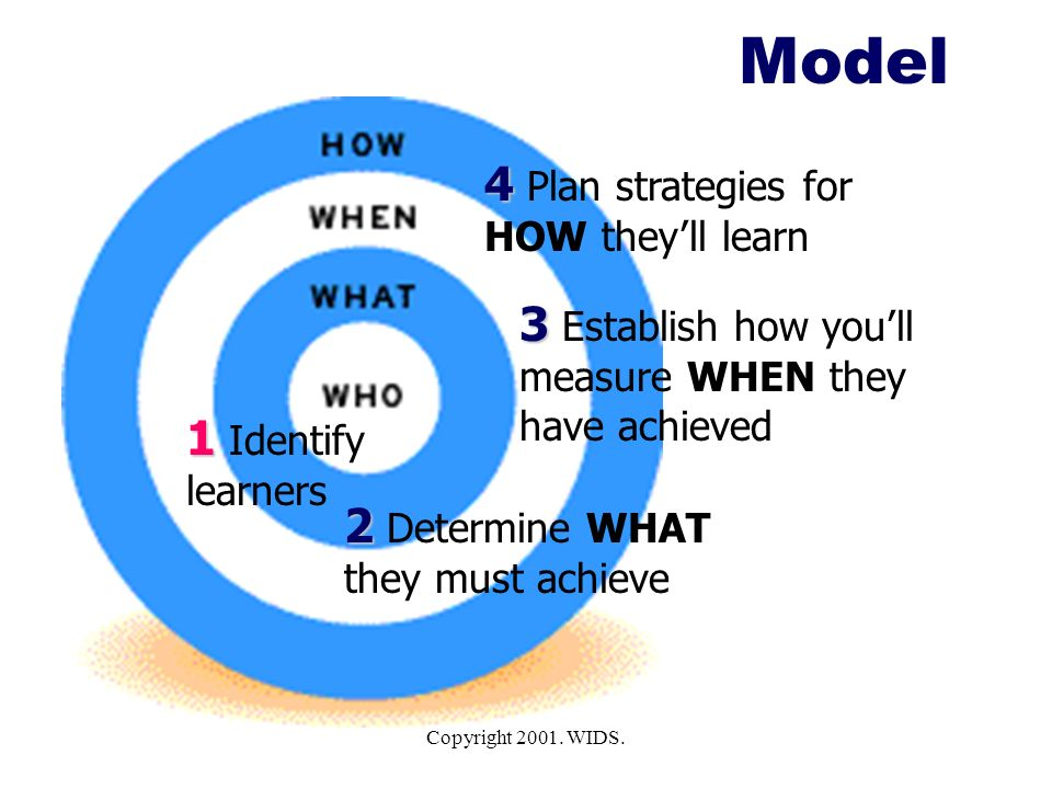 Model 4 Plan strategies for HOW they'll learn