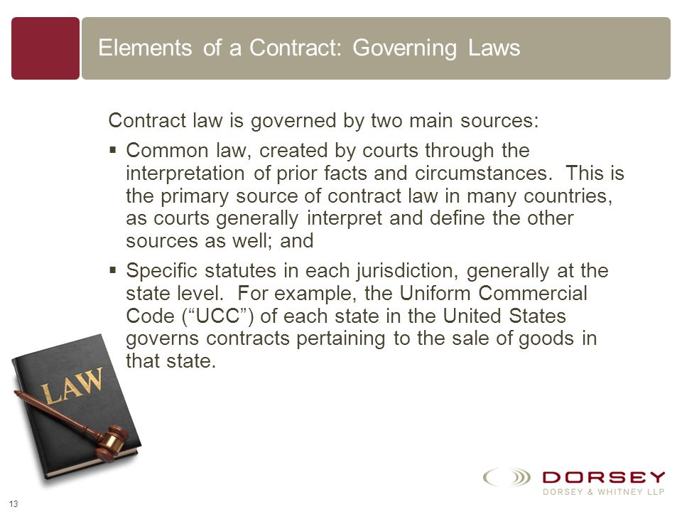 Elements of a Contract: Governing Laws