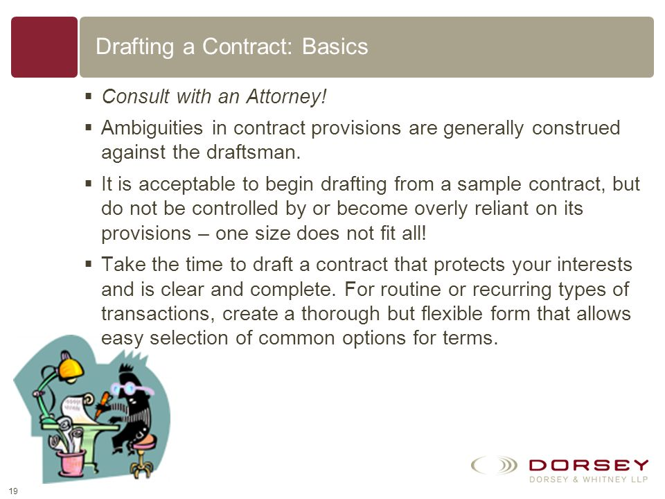 Drafting a Contract: Basics