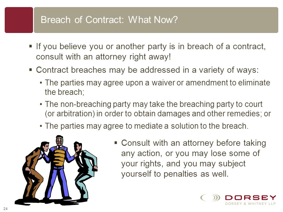 Breach of Contract: What Now