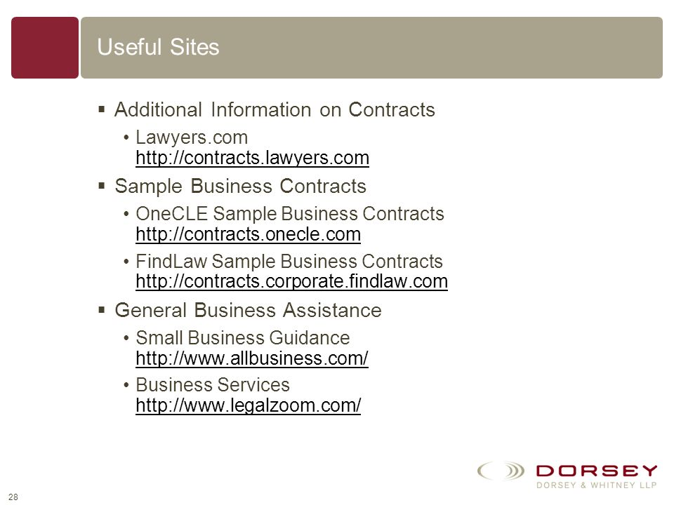 Table of Contents Contracts Around the World What is a Contract ...