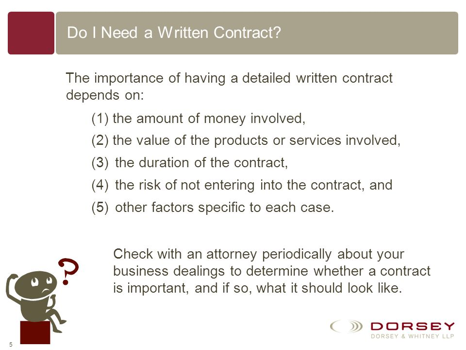 Do I Need a Written Contract