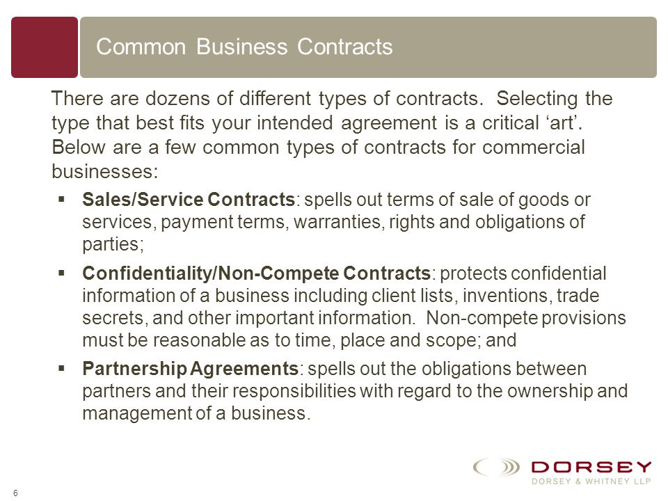 Bot a common tyoe of contract