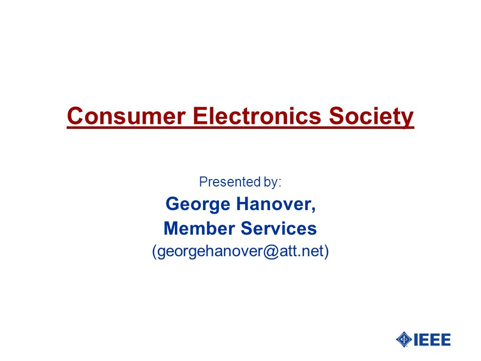 Consumer Electronics Society