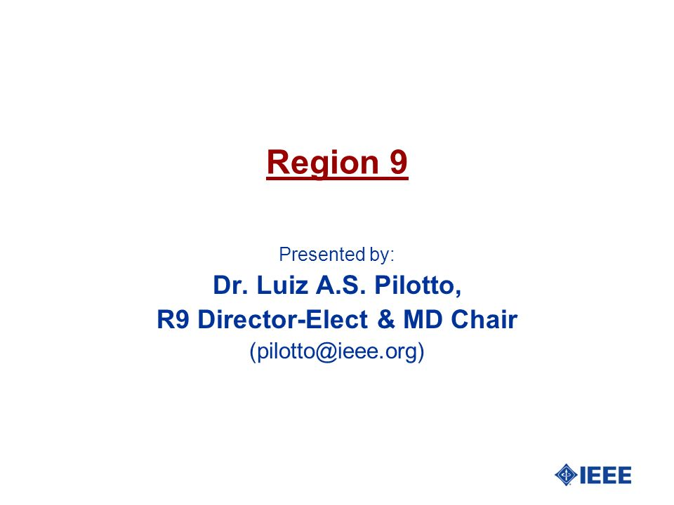R9 Director-Elect & MD Chair