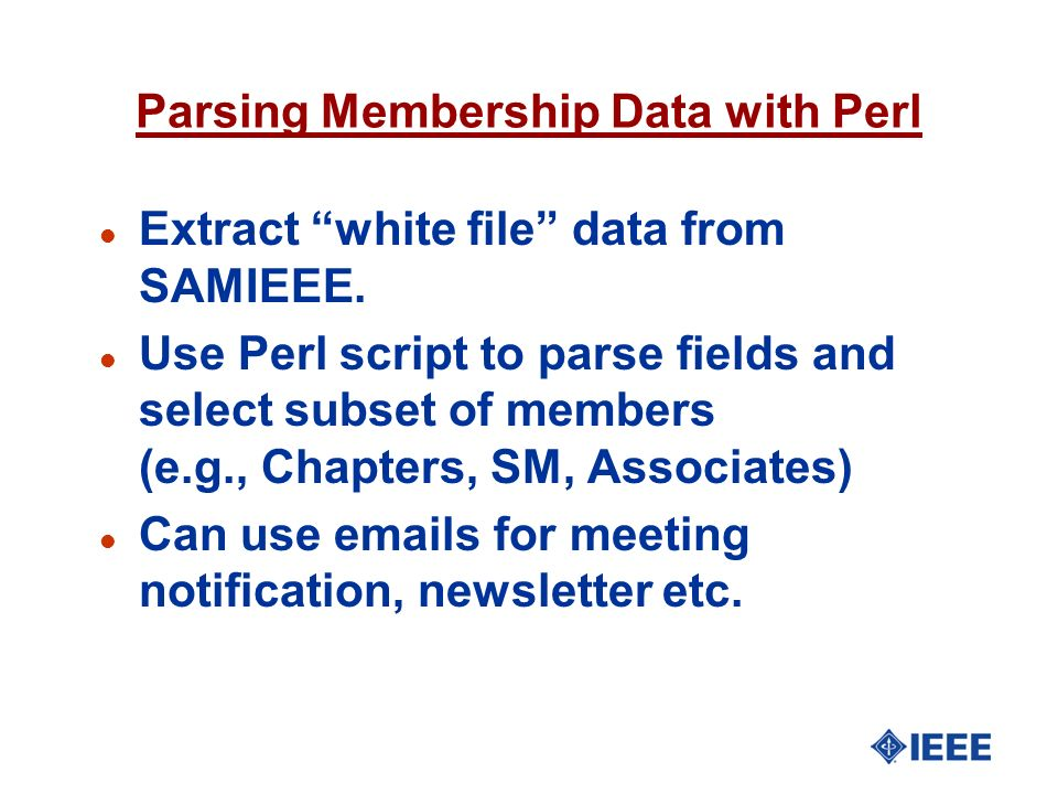 Parsing Membership Data with Perl