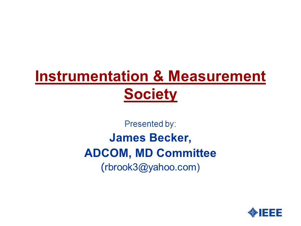 Instrumentation & Measurement Society