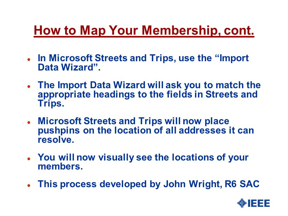 How to Map Your Membership, cont.