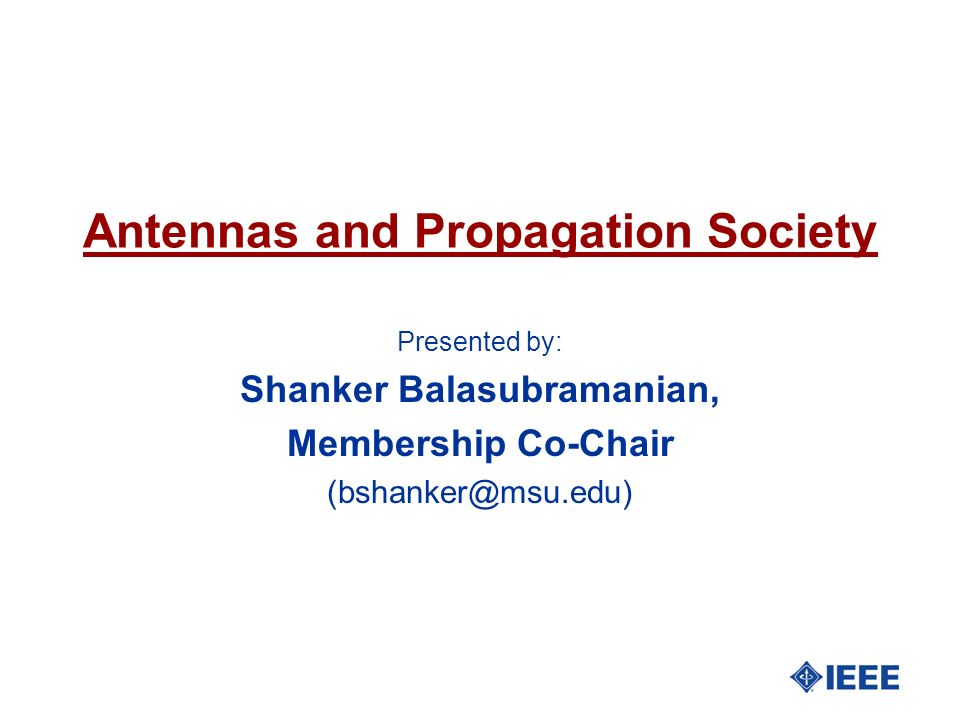 Antennas and Propagation Society