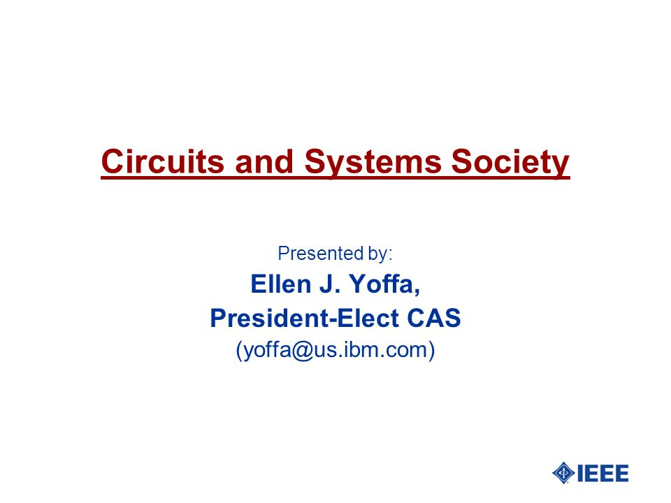 Circuits and Systems Society