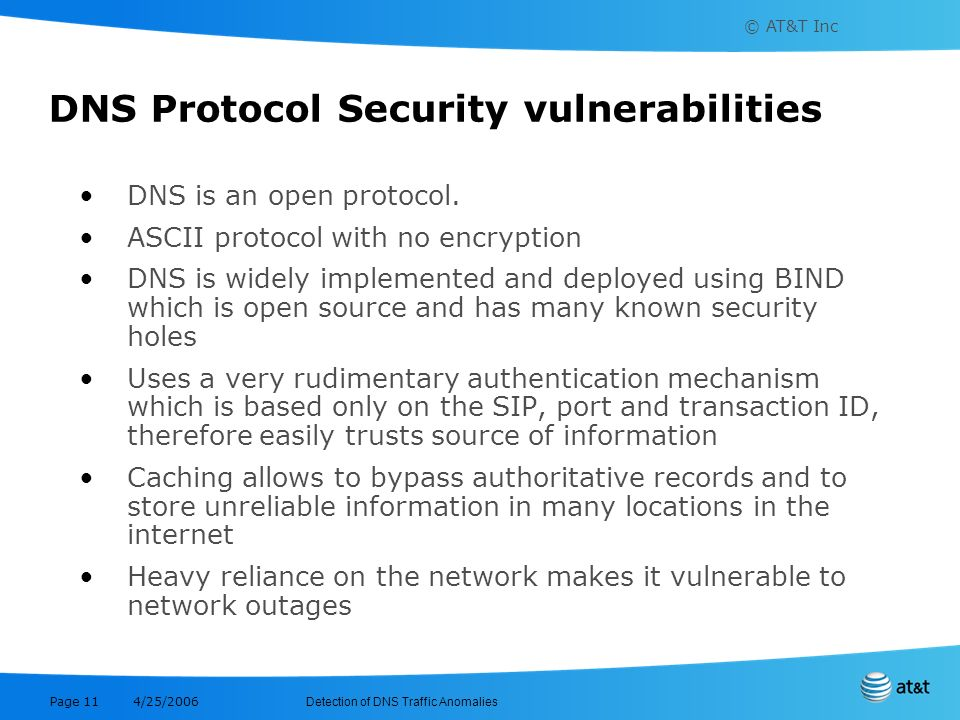 DNS Protocol Security vulnerabilities
