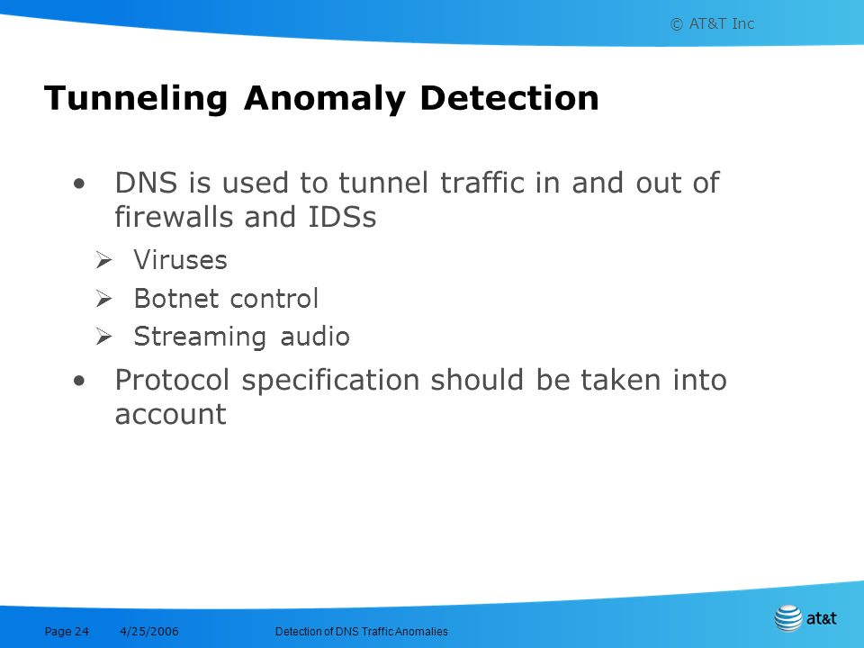 Tunneling Anomaly Detection