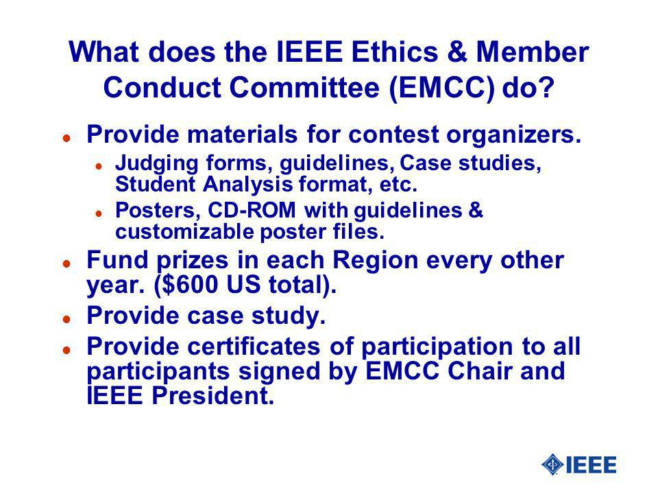 What does the IEEE Ethics & Member Conduct Committee (EMCC) do