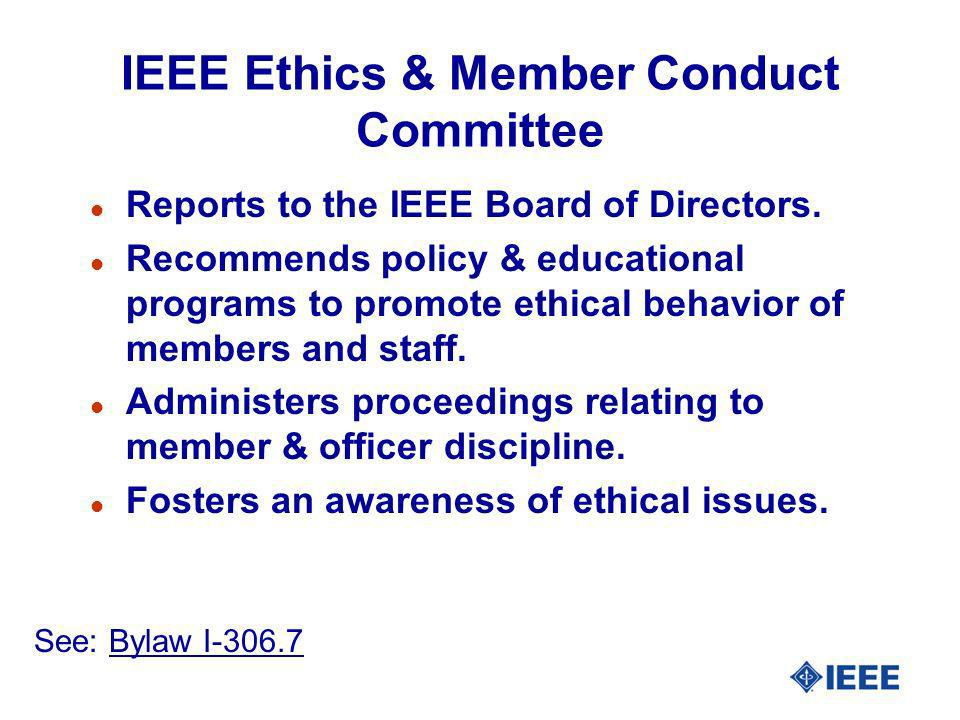 IEEE Ethics & Member Conduct Committee